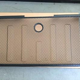 Image of a Jeep Wrangler 3D Grille mesh Black Color fits OEM Grille