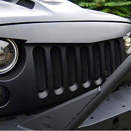 Image of a Jeep Wrangler Jeep Wrangler JK   Angry Bird Grille V-Shape Matte Black with Mesh
