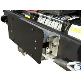 Image of a Jeep Wrangler Winch Roller Fairlead License Plate Holder Bracket Mount