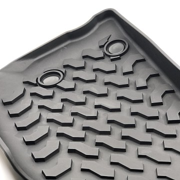 Image of a Jeep Wrangler  Jeep Wrangler JK Floor Mats (Deep Dish Design) for 4-Door Wrangler
