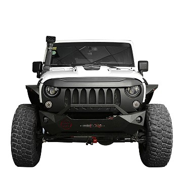 Image of a Jeep Wrangler  ABS Demon Grid Style Front Grill Grille matte black
