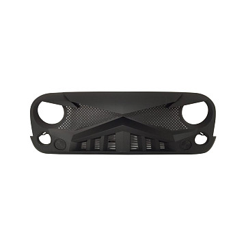Image of a Jeep Wrangler  ABS Knight Style High Flow Front Grill Grille matte black