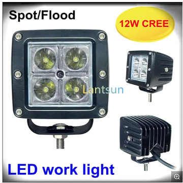 Image of a Jeep Wrangler Lights And Mirrors Jeep Wrangler  12W Square Spot/Flood Beam LED Work Light