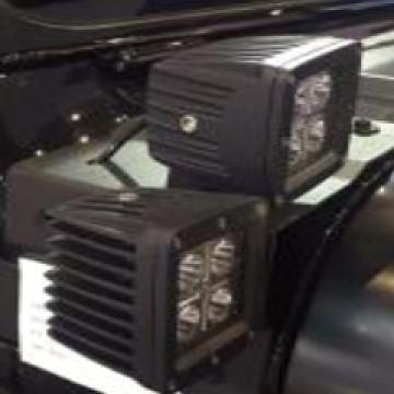 Image of a Jeep Wrangler Brackets Jeep Wrangler JL Dual Light Cowl bracket (LED Lights not included)