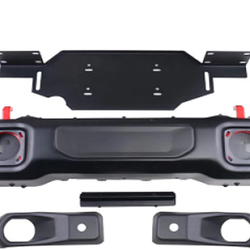 Image of a Jeep Wrangler Front Bumpers Jeep Wrangler JL1049  Mopar Rubicon Style Steel Front Bumper