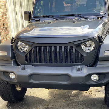 Image of a Jeep Wrangler NEW JEEP JL PARTS Angry Grille (TF Style) for Jeep Wrangler JL 2019