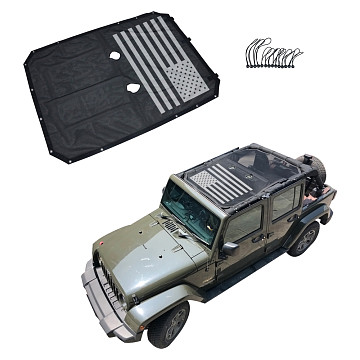 Image of a Jeep Wrangler Accessories Jeep Wrangler  JK 4 Door Shade Net J260-3