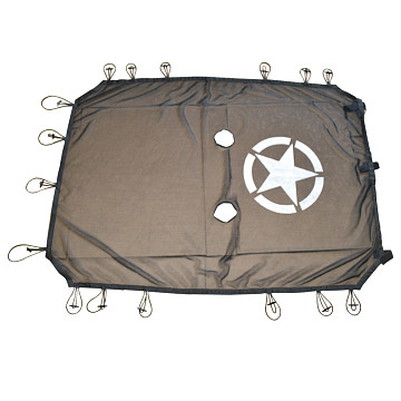 Image of a Jeep Wrangler Accessories Jeep Wrangler JK 4 Door Shade Net J260-4