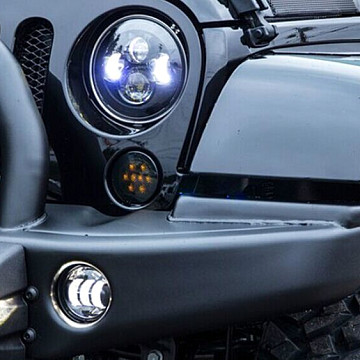 Image of a Jeep Wrangler Lights And Mirrors Jeep  Wrangler JK LED fog Light (Pair)