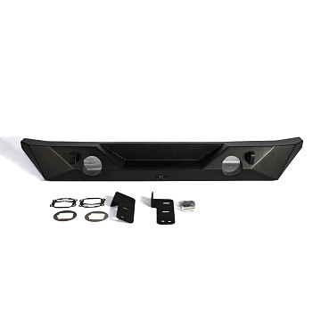 Image of a Jeep Wrangler Rear Bar Jeep Wrangler JK Poison Spyder Brawler II Style Short-width Steel Rear Bar