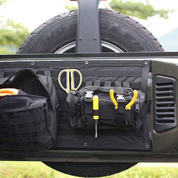 Image of a Jeep Wrangler Accessories Jeep Wrangler JK Tailgate Storage Bag  J323