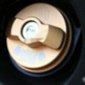 Image of a Jeep Wrangler Accessories Jeep  Wrangler JK alloy Fuel Cap Inner Door