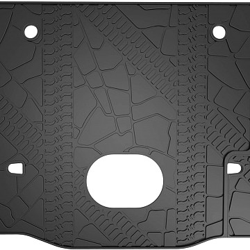 Image of a Jeep Wrangler  Jeep Wrangler JK 4Door Rear truck mat with hole reserved for audio