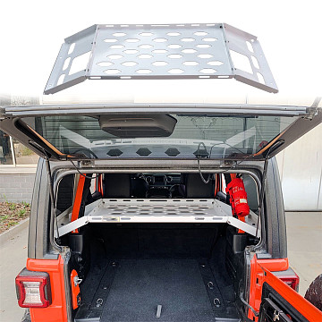 Image of a Jeep Wrangler Accessories Jeep Wrangler  JL  Aluminum Alloy Tailgate Table