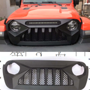 Image of a Jeep Wrangler Angry Grilles Jeep Wrangler JL  Angry Grille with led bar 0003