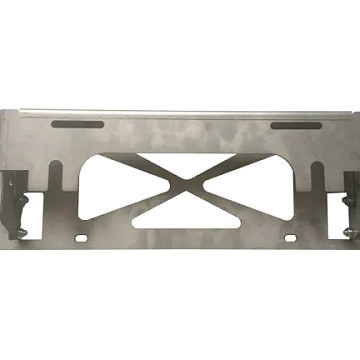 Image of a Jeep Wrangler Accessories Jeep Wrangler  JL Front bar license plate up moving bracket