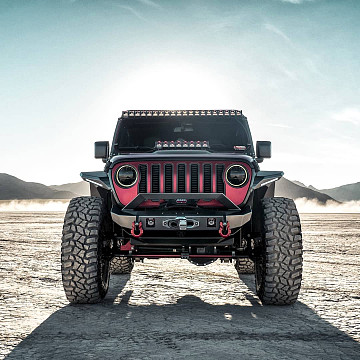 Image of a Jeep Wrangler Front Bumpers Jeep Wrangler  JL JL1128 Offroad Front Bumper Car Bumpers