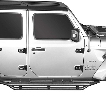Image of a Jeep Wrangler  Jeep Wrangler  JL Matted Dropped Side Steps Running Boards