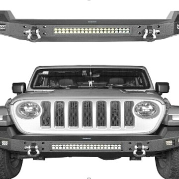 Image of a Jeep Wrangler Front Bumpers Jeep Wrangler JL front bumper with led light bar