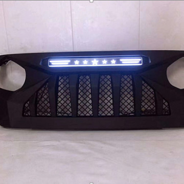 Image of a Jeep Wrangler Angry Grilles Jeep  Wrangler JL  grill with white led 004W