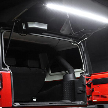 Image of a Jeep Wrangler Lights And Mirrors Jeep Wrangler  JK tailgate led light with remote control