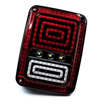 Image of a Jeep Wrangler  Jeep Wrangler LED Tail Lights with Animated Turning Lights 0120 (Pair)