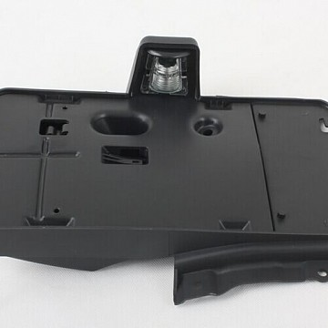 Image of a Jeep Wrangler Lights And Mirrors  Rear License Plate Holder Frame