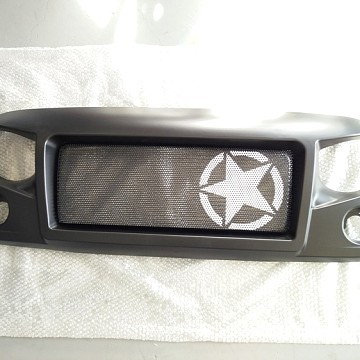 Image of a Jeep Wrangler Angry Grilles Spartan Star Style Angry Grille Matte black