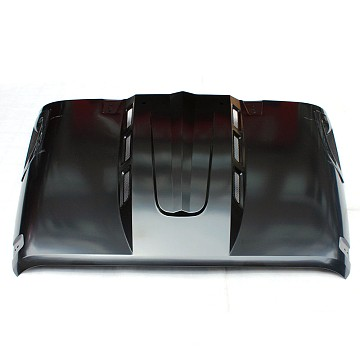 Image of a Jeep Wrangler  Avenger Style Steel Bonnet Front Hood Heat Reduction