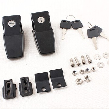 Image of a Jeep Wrangler Bonnets Bonnet Hood Lock Catch Kit With Key And lock