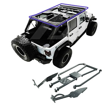 Image of a Jeep Wrangler Brackets Rockhard 4x4 Bolt-In Ultimate Sport Cage