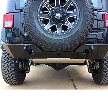 Image of a Jeep Wrangler Rear Bar JW0363 Poison Spyder Brawler II Style Full-width Steel Rear Bar