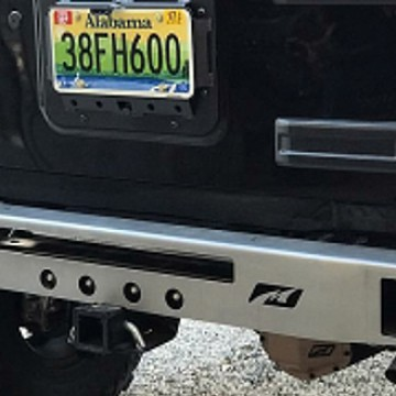 Image of a Jeep Wrangler Rear Bar Jeep Stubby Rear Bumper with Tow Hook