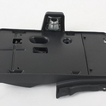 Image of a Jeep Wrangler  Side Mount Rear License Plate Holder Frame With Light