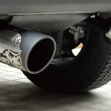 Image of a Jeep Wrangler  Accessories Gibson Skull Exhaust Style Stainless Dual Exhaust Muffler System