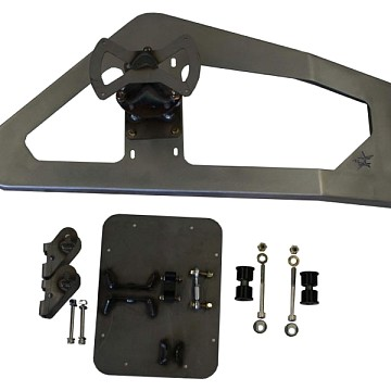 Image of a Jeep Wrangler Rear Bar Body Mounted Tire Carrier (Supports up to 40 inch tire)
