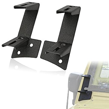 Image of a Jeep Wrangler Brackets Windshield A-Pillar Mount Brackets for Dual LED lights