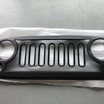 Image of a Jeep Wrangler  ABS Defender Style High Flow Front Grill Grille matte black