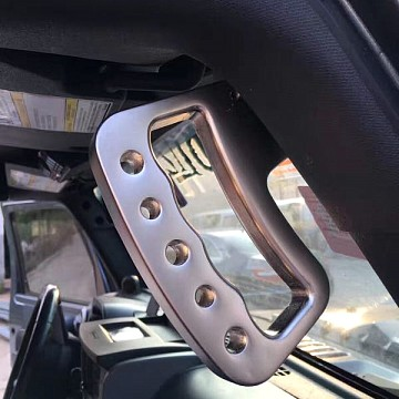Image of a Jeep Wrangler Interior Pair Aluminum Front Grab Handle A-alloy Black Color