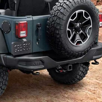 Image of a Jeep Wrangler Rear Bar 10th Anniversary Style rear bumper bar