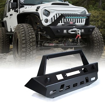 Image of a Jeep Wrangler Front Bumpers Avenger Style Front Bull Bar