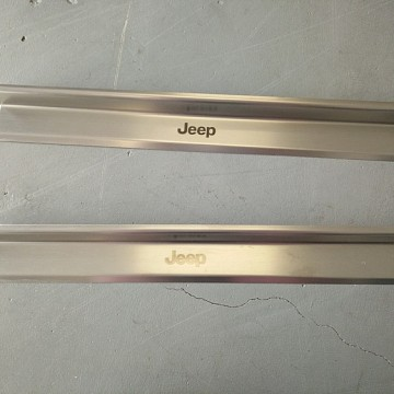 Image of a Jeep Wrangler  2 door type Stainless Steel door sill plate door add on