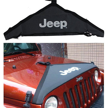 Image of a Jeep Wrangler Accessories Jeep Wrangler JK Front End Bra T-Style Protector Kit  J116