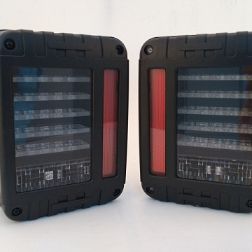 Image of a Jeep Wrangler   Pair LED Tail Lights J.W. Speaker Style Rear Turning Break Light 0119