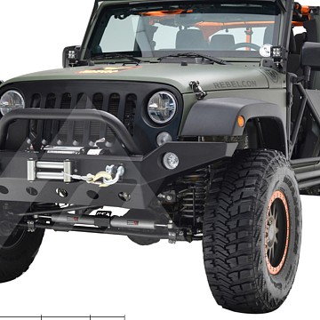 Image of a Jeep Wrangler  Barricade Trailforce Style Steel Front Winch Bull Bar (JW0294)