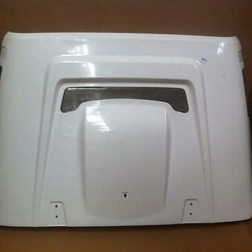 Image of a Jeep Wrangler Bonnets AEV Style FRP Bonnet Front Hood Body Kit