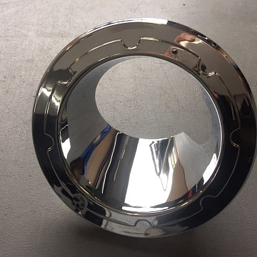 Image of a Jeep Wrangler Accessories Chrome Color Fuel Cover Base without cap