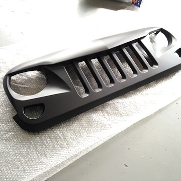 Image of a Jeep Wrangler  Eagle Style Angry Grille Matte Black Finish