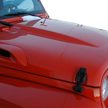 Image of a Jeep Wrangler  TMD Style FRP Bonnet Front Hood