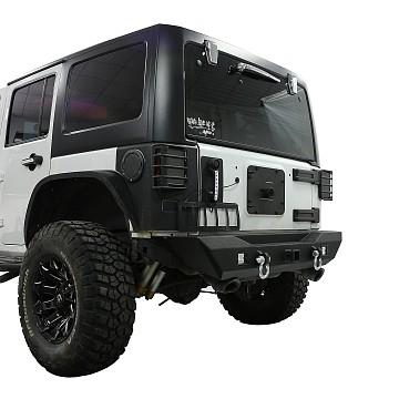 Image of a Jeep Wrangler Body Armor Avenger Style Rear Bumper